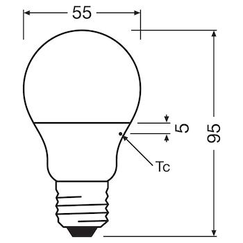 CLASSIC A 40 WW E27 HS codice prod: LED128064BLXBOX1 product photo Foto4 L2