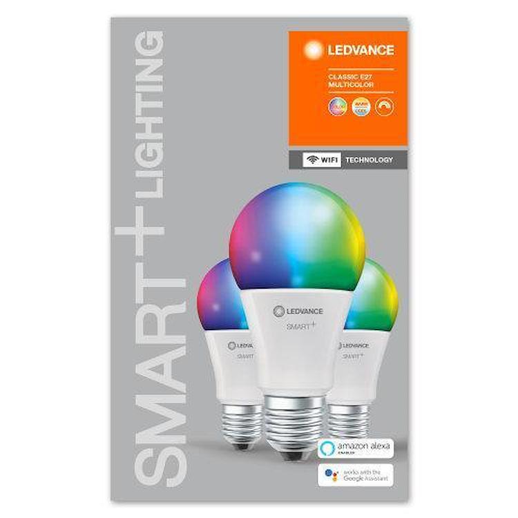 SMART+ WIFI CLASSIC A 60 RGBW E27 HS BOX 3 codice prod: SMT485754WF3 product photo