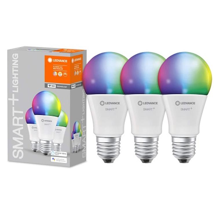 SMART+ WIFI CLASSIC A 100 RGBW E27 HS BO X3 codice prod: SMT485877WF3 product photo