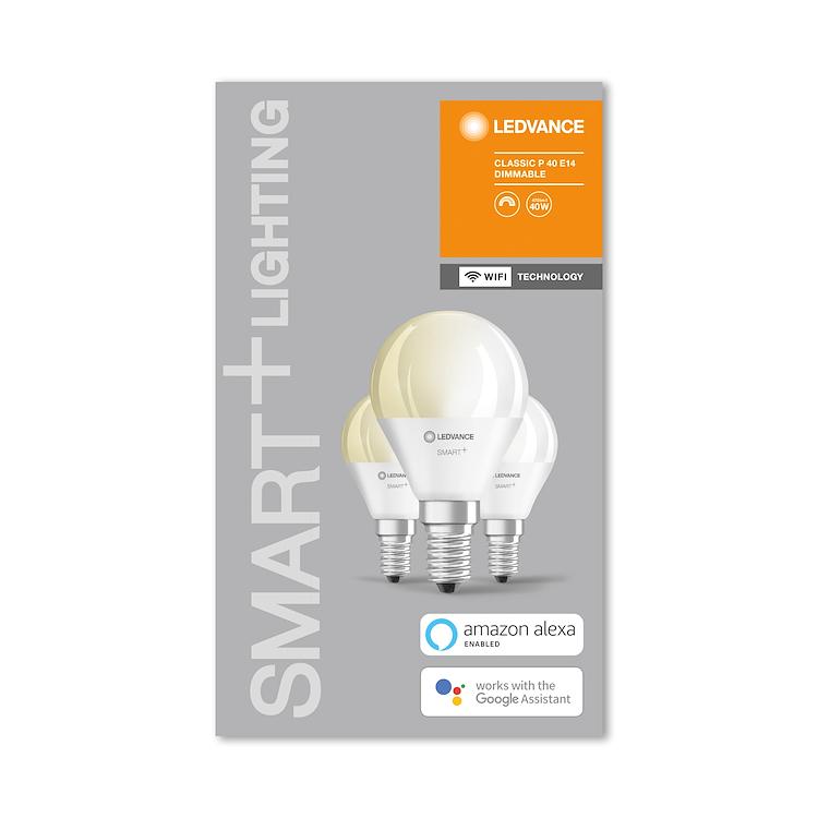 SMART+ WIFI CLASSIC P 40 DIM WW E14 HS B OX3 codice prod: SMT485952WF3 product photo