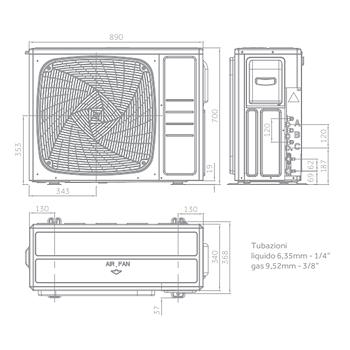 CONDIZIONATORE TRIALSPLIT TUNDRA 2.0 PLUS 7000+7000+7000 BTU BIANCO product photo Foto5 L2