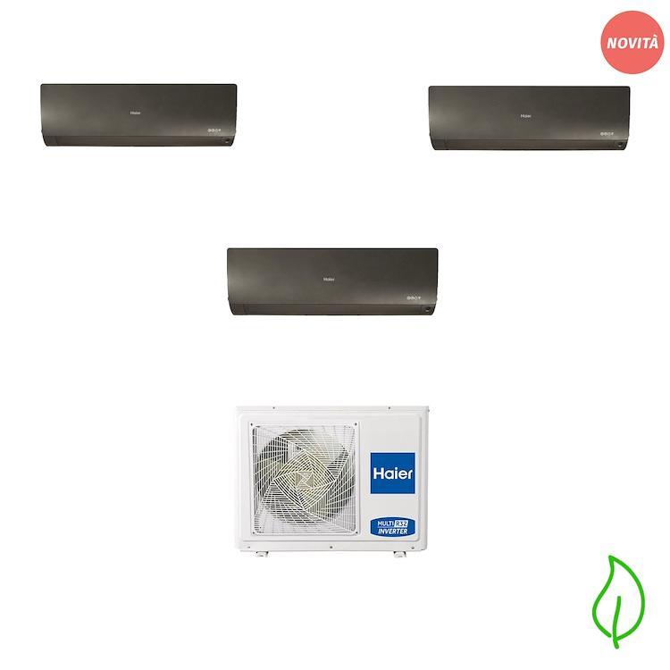 CONDIZIONATORE TRIALSPLIT FLEXIS PLUS 9000+9000+12000 BTU R32 NERO product photo