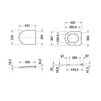 D-NEO SEDILE CON COPERCHIO SENZA CHIUSURA RALLENTATA BIANCO codice prod: 0021610000 product photo Foto4 L2