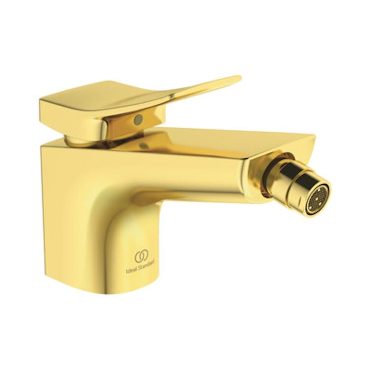 """CONCA MISCELATORE BIDET CON ASTA DI COMANDO SCARICO/PILETTA 1""""1/4 BRUSHED GOLD codice prod: BC760A2 product photo"""
