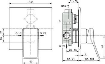 CONCA  MISCELATORE DOCCIA PARTE ESTERNA  MAGNETIC  GREY codice prod: A7376A5 product photo Foto1 L2