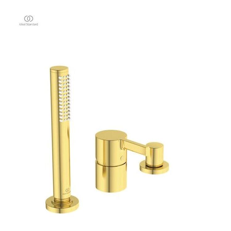 JOY GRUPPO BORDO VASCA 3 FORI BRUSHED GOLD codice prod: BC788A2 product photo