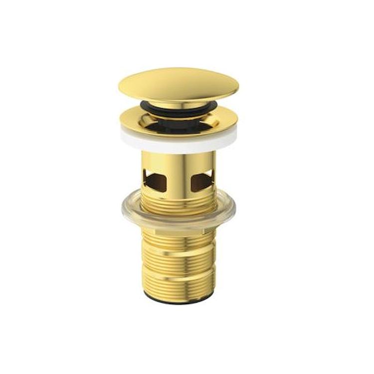 PILETTA CLICK-CLACK PER LAVABO CON TROPPO PIENO BRUSHED GOLD codice prod: E1482A2 product photo