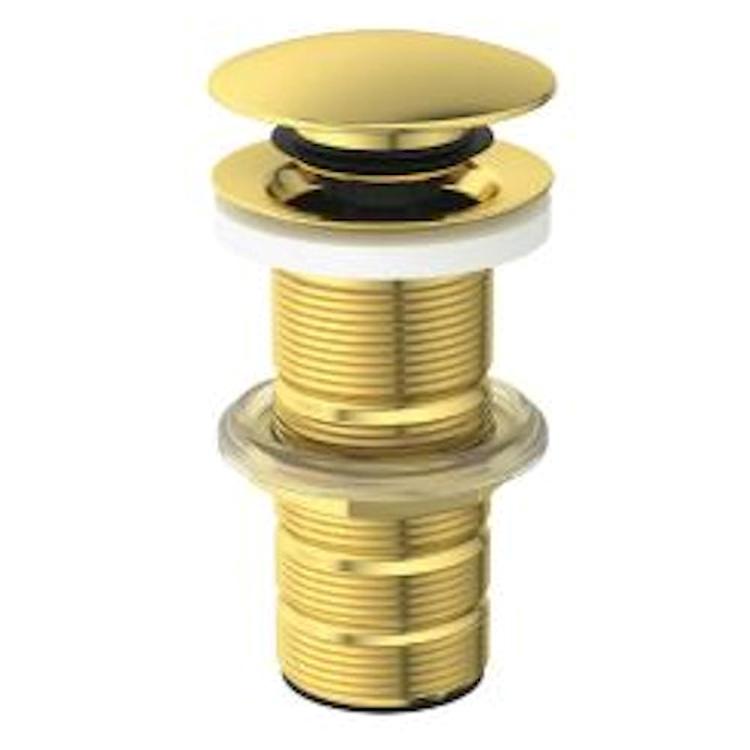 PILETTA CLICK-CLACK PER LAVABO SENZA TROPPO PIENO BRUSHED GOLD codice prod: E1483A2 product photo